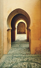 Alhambra Archway (Thought Knots Design) Tags: alhambra thought knots design granada spain castle palace nasrid generalife travel adventure explore temple arabic muslim moors roman gothic mason masonry arch architecture vacation travels doors arches doorway tile tilework tiled tiles columns court courtyard ceiling dome domes bas relief texture textured art europe european spanish espana camp