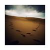 Sur la dune. (Mathieu.L) Tags: dune seul pyla pilat gironde trace pas arcachon step poetic solitude sable