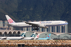 CHINA AIRLINES B777-300ER B-18051 001 (A.S. Kevin N.V.M.M. Chung) Tags: aviation aircraft aeroplane airport airlines plane spotting boeing b777300er b777 worldliner landing hkg