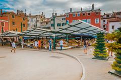 Town market in Rovinj