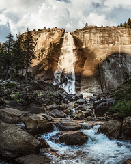 Nevada Falls. Yosemite. (Tanner Wendell Stewart) Tags: ifttt 500px canyon rock formation gorge ravine rocky valley cliff bridal veil falls peak waterfall cascades mountain yosemite california