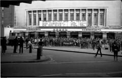 Quo Territory! (Rockallpub) Tags: london epsonv750 voigtlander monochrome denim guitar film scanned band hammersmithodeon gig statusquo rockandroll 1980s bessaii historic