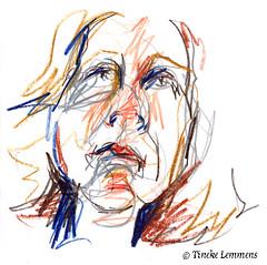 Scribble-portrait 10 (Tineke Lemmens) Tags: tinekelemmens portraits colored pencils