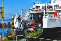 Scotland West Coast Largs car ferry Loch Shira loading cars for the island of Cumbrae 24 June 2018 by Anne MacKay (Anne MacKay images of interest & wonder) Tags: scotland west coast largs caledonian macbrayne calmac car ferry loch shira cars people slipway sea xs1 24 june 2018 picture by anne mackay