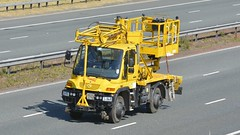 AE05 ETR (panmanstan) Tags: mercedes unimog wagon truck lorry networkrail roadrailer a1m fairburn yorkshire