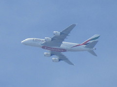 Emirates Airbus A380 , Over Doncaster South Yorkshire (Gary Chatterton 5 million Views) Tags: emirates airbus airbusa380 a380 super sky doncaster dubai manchester flight airliner jet jetliner aircraft plane aeroplane flickr explore canonpowershot photography amateur unitedarabemirates uae avation aircraftspotter