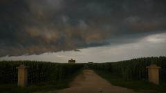 independence day(2018) (BillsExplorations) Tags: independenceday july4th storm clouds invasion foreboding stormfront stormclouds field severeweather ominious path road
