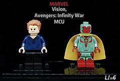 Vision, Avengers: Infinity War MCU (L1n6zz) Tags: mcu infinitywar avengers marvel lego vision