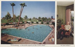 Del Webb's Sun City - Sun City, Arizona (The Cardboard America Archives) Tags: delwebb suncity vintage arizona retirement postcard folder