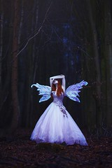 Fairest of them all (anjelicahyde) Tags: trees forest woodland negativespace landscape pretty redhead photoshopactions photography photographer photoshop model love fantasy color dream fairytale fairy beautiful beauty