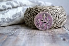 large thyme button (Cherryhill Studio) Tags: ceramic handcrafted buttons ceramicbuttons botanical thyme