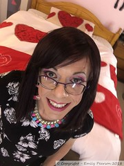 May 2018 - back home (Girly Emily) Tags: crossdresser cd tv tvchix tranny trans transvestite transsexual tgirl tgirls convincing feminine girly cute pretty sexy transgender boytogirl mtf maletofemale xdresser gurl glasses dress indoor