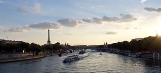 strolling towards Eiffel tower