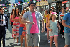 Dancing in the street (* RICHARD M (7.5 MILLION VIEWS)) Tags: perfectlyfrank connordeinosimpkins mariacochrane harryprivett action street candid onlocation actors dancers dancing performers performance entertainers entertainment fun theshoppersdance comedy comic bunting shadows hats july summer summertime sunnysouthport southport sefton merseyside wesleystreetsouthport filmmaking moviemaking filmmakers moviemakers shops isla porkpiehat dance expressions cinematography filmextras talent merseysiders showbusiness movies films