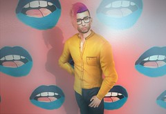 Jubilee (EnviouSLAY) Tags: colorfull yellow pink casual buttonup newrelease new release formal dressy bright jubilee ascend belleza bento lelutka coldash cold ash taketomi tmd themensdepartment the mens department pale male gay blogger secondlife second life fashion photography mensmonthly mensevent mensfashion mensfair monthlymen monthlyfashion monthlyfair monthlyevent monthly event men fair