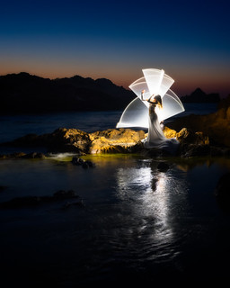 Tube light painting 2 | Menorca, Spain