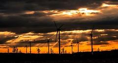 Rays of sunshine at the windfarm (peterbaird100) Tags: windmills windfarm