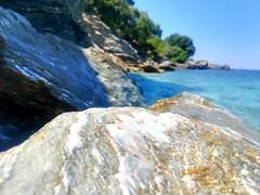 🌊 (__jo_) Tags: greece hellas greek greeksummer summer summervibes volos pilio rock rocks stone stones seaside sea sealife beachlife beach blue