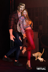 Couple Team (Satuex Resident) Tags: riot galvanized letre doux bleich trainers snekaers pants jeanos ripped jacket shirt tshirt hair ears eyes mesh bento male shape catwa daniel satuex angel king angelking satuexangelking secondlife sl secondlifevirtual virtual ks couple goals cat backdrop varonis