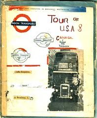 1952  Scrap book by an unknown  bus enthusiast. (Ledlon89) Tags: rt rtbus rtl rtlbus leylandtitan aecregent aec leyland lt lte london bus buses londontransport londonbus londonbuses canada usa america 1952 tour 19950s transport
