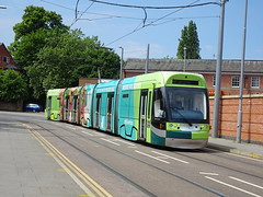 Nottingham 211 Beeston (Guy Arab UF) Tags: nottingham express transit 211 bombardier incentro at65 five section articulated tram beeston interchange trams tramway