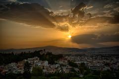 Sunset over Athens (tagann) Tags: sunset sun coucherdesoleil soleil athens athenes greece grece