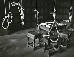 Stowarzyszenie umarłych poetów (barbachowska.k) Tags: thoughts scary empty room chairs nopeople blackandwhite mood moody