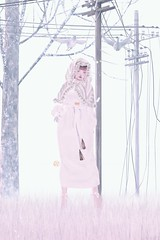 Breathing in snowflakes。。。 (ミカセモカー) Tags: ersch aurora dress maitreya i am using the fatpack option vintage fair winter cape hooded w fur ~white~ by caverna obscura addams elizabeth glooves m {avie} barbara heels white bttb sasha gacha cigarette plain case hair rare mika diamond freckles not available kiiko lips applier for catya 01 mudskin our story 3