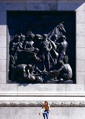 Nelson's Column (Snapshooter46) Tags: nelsonscolumn bronze relief panel sculptor musgravewatson london trafalgarsquare battleofcapestvincent girl stone