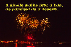 A Simile (Tony Shertila) Tags: liverpool england unitedkingdom text words sayings humour night fireworks