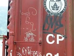 "The Watchman, Soak ""Bat Town"" 9/15 (arrowlakelass) Tags: graffiti train boxcars steel paint p1180339"