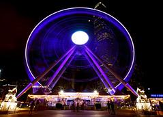 Observation Wheel (fantommst) Tags: lisaridings fantommst hongkong hk china western central night cityscape lights ferris wheel observation entertainment