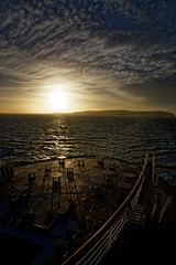 Sunrise over the Cromarty Firth (alan.irons) Tags: light shadows morning arft crusie cmv cromarty deck ship marcopolo scotland water