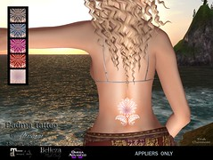 MESANGE - Padma Tattoo (MESANGE.) Tags: secondlife sl mesange eyes makeup unisex omega appliers cosmetics roleplay fantasy event maitreya belleza tattoo ink