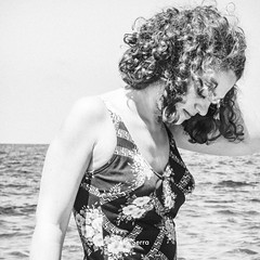 Women Portrait (aaamsss) Tags: women portrait blackandwhite young beach beauty italy briatico vibo friends sea sumer summer summertime vintage vintageclothing vintageswimmingdress