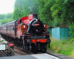 LMS Ivatt Class 2 2-6-2T 41241 (jdathebowler Thanks for 2.3 Million + views.) Tags: ingrowstation keighleyworthvalleyrailway kwvr lmsivattclass2262t tankengine steam steamengine steamtrain 41241 railwayline railway railwaytracks railwayengine platform