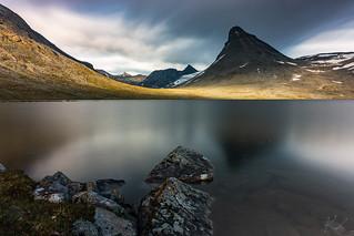 Kyrkja mountain long exposure (15min), Jotunheimen