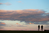 Sunset couple (Mikey Down Under) Tags: beach beaches bulli clouds couple illawarra northern nsw orange people point sandon southcoast sunset wollongong