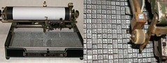 Japanese Typewriter Keys (kawaii_fabric_and_paper) Tags: vintage typewriter key stamp etsy metal