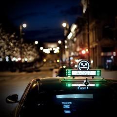 Taxi (akarakoc) Tags: norway norgestaxi oslo night city bokeh
