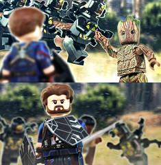 LEGO Avengers: Infinity War - Cap Meets Groot (MGF Customs/Reviews) Tags: lego avengers infinity war captain america groot custom figure minifigure