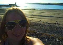 Selfie at Port Logan (sbaxter2205) Tags: selfie portlogan beach eveningsun scotland sunglasses smile summer