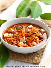 Tom Yam Noodle Soup 1 (Bitter-Sweet-) Tags: vegan food savory spice hotandsour spicy thai tomyum tomkha stew noodles spiralizer spiralized easy onepot entree main dinner lunch vegetarian meatless healthy tofu soy protein fiber glutenfree dairyfree quick