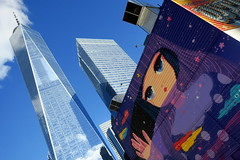 NYC - FiDi: Two World Trade Center Mural Project - Stickymonger (wallyg) Tags: 2worldtradecenter downtownmanhattan fidi financialdistrict graffiti manhattan mural newyork newyorkcity ny nyc stickymonger streetart twoworldtradecentermuralproject worldtradecenter freedomtower oneworldtradecenter 1worldtradecenter skyscraper downtown wtc 1wtc davidchilds daniellibeskind studiodaniellibeskind skidmoreowingsmerrill som skidmoreowingsadmerrill contemporarymodern 7worldtradecenter modern postmodern pomo skidmoreowingsandmerrill skidmoreowingsmerrillllp 7wtc jamescarpenter silversteinproperties streetsign