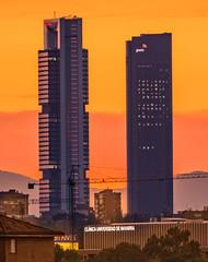 Madrid al atardecer _DSC8423 M on c em ma (tomas meson) Tags: cuatro torres madrid clínica navarra universidad