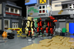 Come with us, it's late (Devid VII) Tags: devidvii devid diorama drone tan dark red lego moc scene