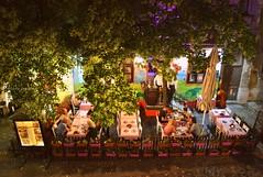 Skadarlija, Belgrade (Helene Iracane) Tags: skadarlija beograd belgrade by night restaurant restaurants summer été nuit nighttime skadarska nikon d3100 photographie photography serbia serbie srbija eating eat arbre tree green vert personnes people nocturne