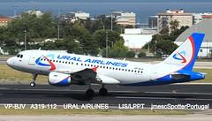 VP-BJV A319-112 URAL AIRLINES  LIS/LPPT jmescSpotterPortugal (jmescSpotterPortugal) Tags: vpbjvairbusa319112uralairlines airbusa319