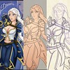 Drawing progres (Toby0177) Tags: overwatch anime witcher ciri cartoon painting illustration portret powerfull portrait drawing sketching sketches schets sketch pose photoshop manga game artist animegirl art
