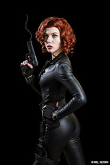 Widow Maker... (Ring of Fire Hot Sauce 1) Tags: cosplay blackwidow quirkygirlcosplay wondercon portrait